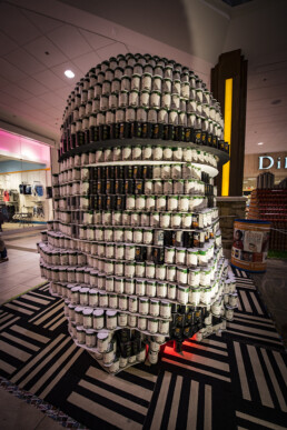 Dimensional Innovations builds storm trooper at Canstruction