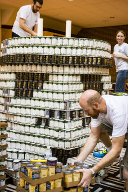 DI employees builds strom trooper at Canstruction