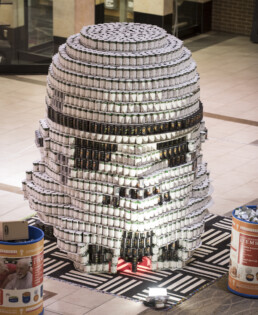 DI Foundation designs and builds storm trooper Canstruction