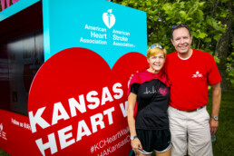 KC Heart Walk Social Media Zone designed by Dimensional Innovations