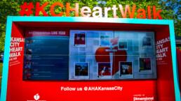 KC Heart Walk Social Media Zone designed by DI