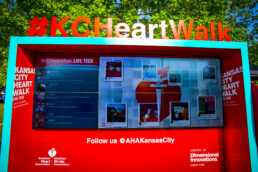 KC Heart Walk Social Media Zone designed by DI