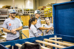 DI Employees build beds for Jadon's Hope